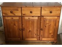 X 3 pine cabinets display cabinet, sideboard & tv cabinet