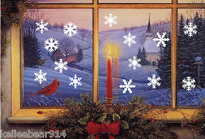 Home Decoration - Frozen Snowflakes removable wall window vinyl decal sticker holiday Christmas