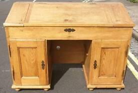 Vintage pine clerks desk
