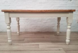Farmhouse Pine Table (DELIVERY AVAILABLE FOR THIS ITEM OF FURNITURE)