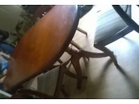 vintage oval dining table and chairs