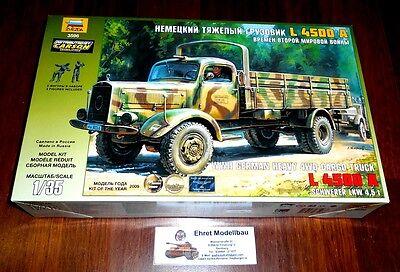 WWII german Heavy 4WD Cargo truck Mercedes L4500 A  1:35 Zvezda 3596 Neu