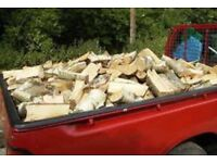 English hard wood logs very dry £60 large truck load