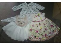 3 Next Baby Girl Dresses Age 3-6 Months