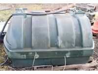 fuel Diesel Tank plastic green with hoze and nozzel