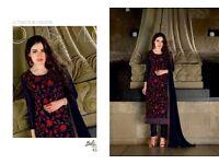 Bela Party Wear Embroidered Straight Salwar Kamiz