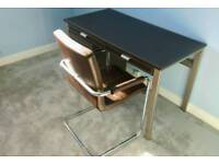 Desk, chair and filing cabinet combination