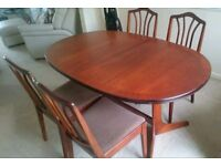 William lawrence dining table and chairs