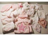 baby girl clothes bundle, 0-3 months, mostly new or worn once