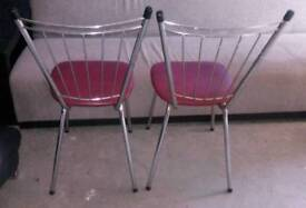 2 retro kitchen chairs