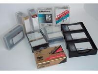 VHS-C Blank Camcorder Video Tapes. Recordable 30 minute Video Tapes x 11. Various Makes. Only £8