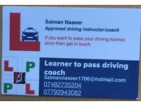 Dvsa approved driving instructor. Affordable, new car, friendly environment,