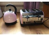 Bubblegum baby pink toaster kettle matching set