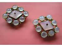 Two identical Brooches made from belt buckles