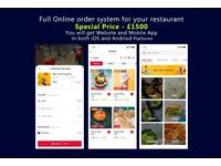 MOBILE APP AND WEBSITE FOR RESTAURANTS AND TAKEAWAYS AVAILABLE FOR THE UNBEATABLE PRICE OF £1500!!!