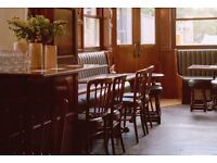 Waiting Staff and Bar Tenders wanted for Michelin Pub of The Year 2017