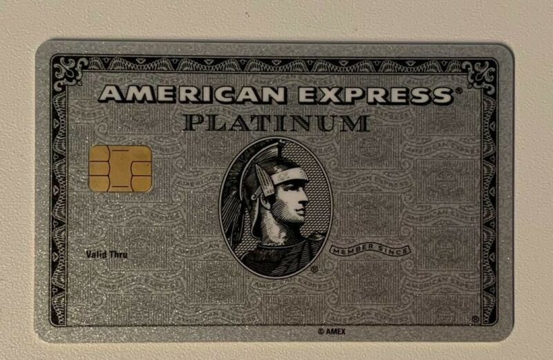 American Express Platinum with chip. Authentic. Ultra RARE ! Collectible.