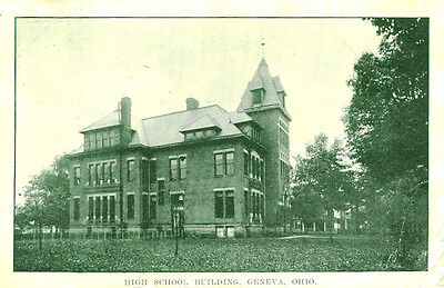 Geneva,OH. A 1911 View of the High School Building ()