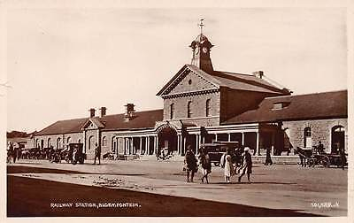 BLOEMFONTEIN, FREE STATE, SOUTH AFRICA, RAILROAD STATION, REAL PHOTO PC c 1920's