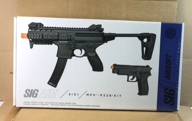SIG Sauer SIG AIR MPX / P226 Airsoft Spring Powered PDW & Pistol Kit Black S5