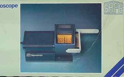 SAFE Signoscope T 1 optisch-elektrischer Wasserzeichenfinder NEU!