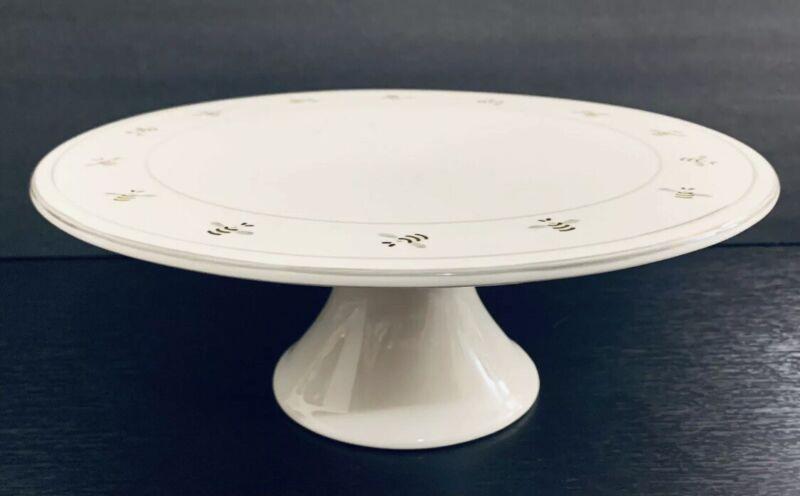 "Matceramica Bumble Bees 11 1/2"" Pedestal Cake Plate"