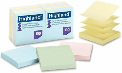Pastel Pop Up Self-stick Notes 3 X 3 Accordion Style 100 Sheet Pads - 12 Pack