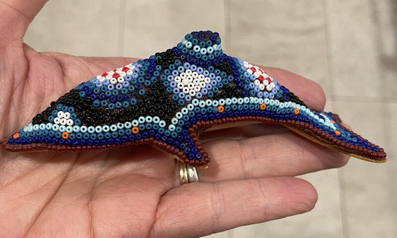 Mexican Huichol Beaded Dolphin. New. Beautiful.