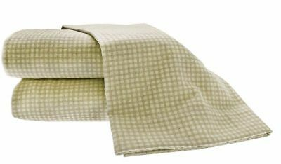 Used, NEW! La Rochelle Heather Ground Flannel GINGHAM Tan 4 Pc Sheet Set CAL - KING  for sale  Urbana