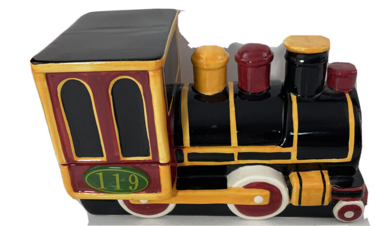 Rare Union Pacific 150 Train Engine Cookie Jar Building America Limited Edition