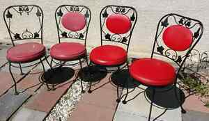 Vintage wrought iron patio chairs