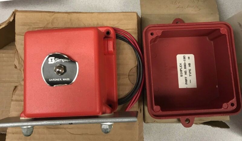 Simplex 2092-9234 Red Chime with Back Box