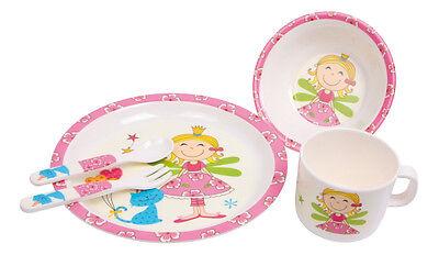 Frühstücks Set Prinzessin Kindergeschirr Geschirr für Kinder Kunststoff Teller
