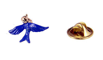 Christian Pins (6030247 Blue Bird of Happiness Lapel Pin Tie Tack Christian Jewelry)