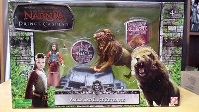 Chronicles Of Narnia Prince Caspian Lucy   Aslan Action Figure Set Nib