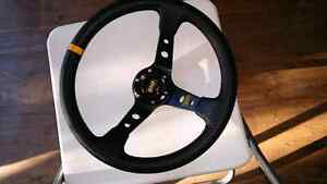 Brand new omp carbon fiber leathery steering wheel Murdoch Melville Area Preview