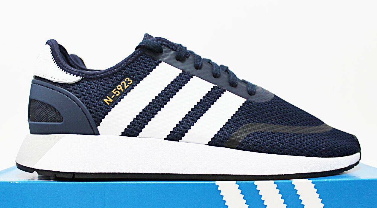 7858a4dc720 $90 NIB ADIDAS N-5923 Men's Navy & White Low Top Sneakers Trainers running  shoes