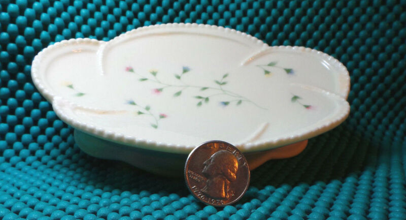 Soap Dish, Porcelain, by SKL, Delicate Floral Pattern, Collectible Home Decor