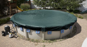 ABOVE GROUND POOL COVER - COUVERTURE DE PISCINE HORS-TERRE