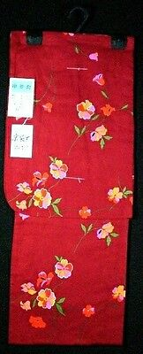 Kimono japanische Yukata, leichter Sommerkimono, 100% Baumwolle, neu, rot