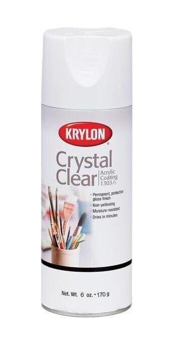 Krylon Crystal Clear Acrylic Coating Aerosol Spray 6 oz can