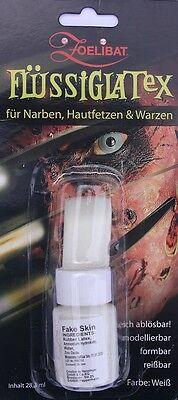 Zoelibat  Flüssig Latex Milch mit Schwamm Narben Halloween Hautbildungsmittel