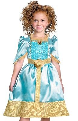 Princess Merida Costume Dress Child Girls Disney Brave - XS 3T-4T, S 4-6X, M 7-8 - Brave Merida Dress