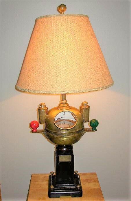 Rare Vintage Nautical Sestrel Binnacle Compass Lamp