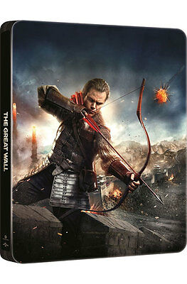 The Great Wall (2017, Blu-ray) Steelbook / 2D + 3D