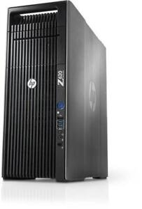 HP Z620 Workstation intel Xeon E5-2670 (12 cores) 3.80Ghz Turbo Cache 16GB RAM 1TB HD Nvidia 2GB VideoCard Win7 or 10
