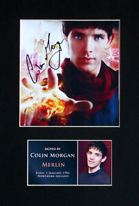 Colin Morgan Merlin Signed Mounted Photo Display Autograph