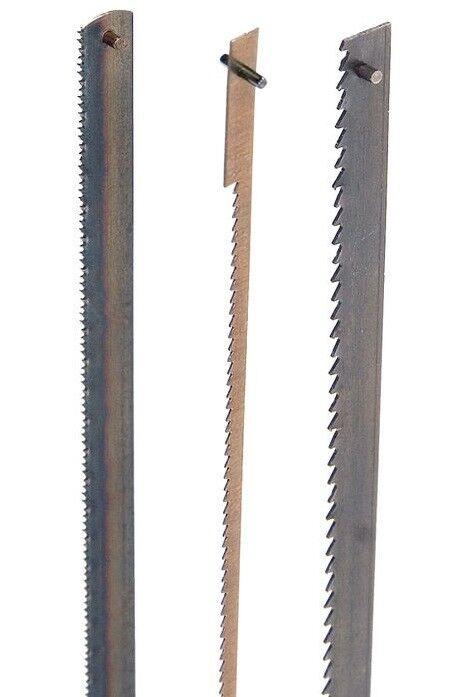 Holzstar Stiftsägeblatt Set 135mm 3tlg. Dekupiersägeblatt Metall Holz Kunststoff