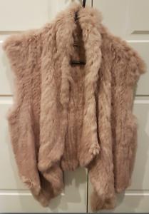 BRAND NEW NICHOLAS rabbit fur vest, size L Brighton Bayside Area Preview