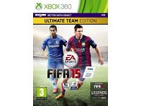 Fifa 15 Ultimate Team Edition For Xbox 360 (As good as new, case included)